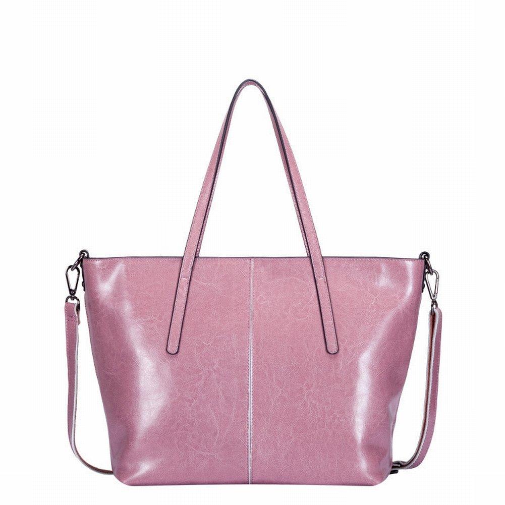 Wasser Weiches Leder Schulterdiagonale Handtasche , Zweifarbiger Taro