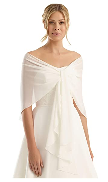 ae5300382556 BrautChic Chiffon Stola perfetto per tutti abiti da sposa o abiti da sera -  Stola siede