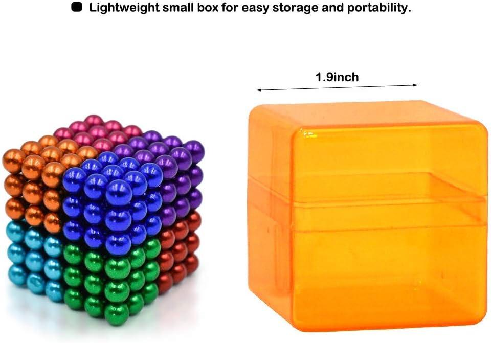 8colors 512pcs Great for Office Desk Toys /& Fidget Toys for Adults 512pcs 5mm Magnetic Cube Magnets Original Sculpture Building Blocks Toys