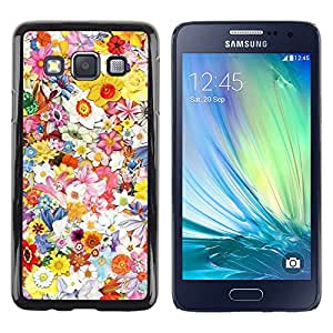 LECELL--Funda protectora / Cubierta / Piel For Samsung Galaxy A3 SM-A300 -- Spring Floral Art Pattern Field Summer --