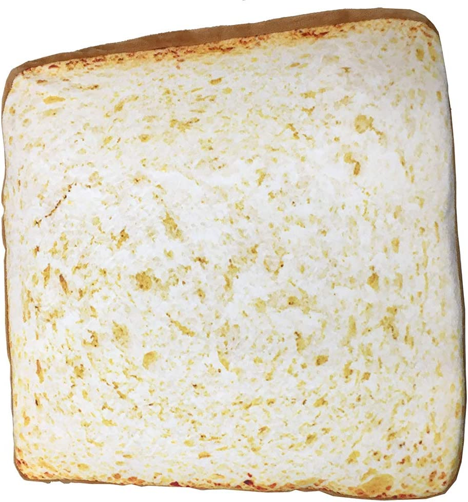 Toast Bread Slice Realistic Soft Velvet Foam Pillow Seat Cushion