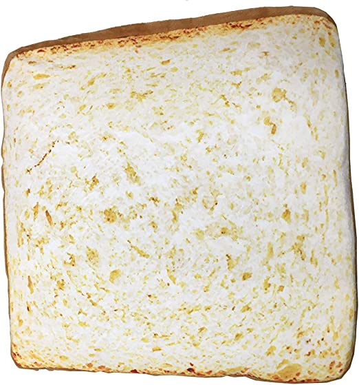Amazon.com: NOVELTY GIANT WWW.NOVELTYGIANT.COM Toast Bread Slice Realistic  Soft Velvet Foam Pillow Seat Cushion: Home & Kitchen