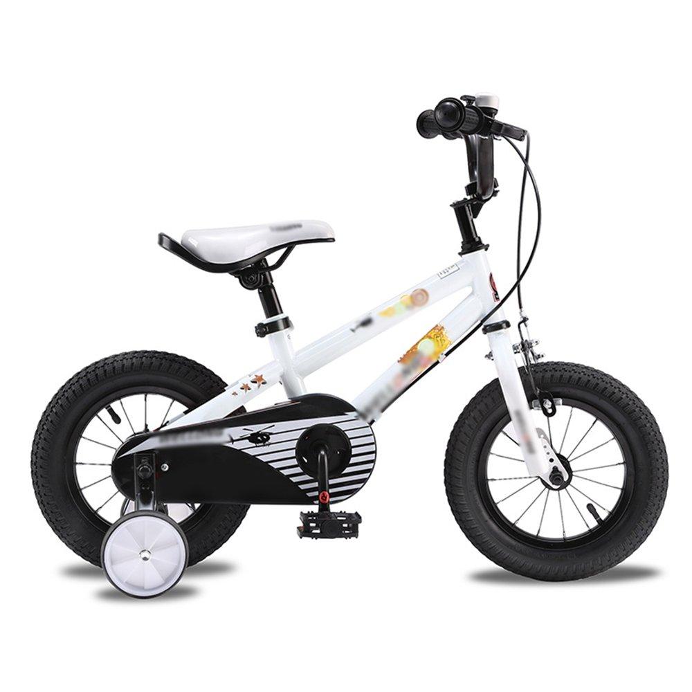 HAIZHEN マウンテンバイク 子供用自転車ベビーキャリッジ12/14/16インチマウンテンバイクオレンジホワイトレッドユニセックス 新生児 B07CCK9VVN白 12インチ
