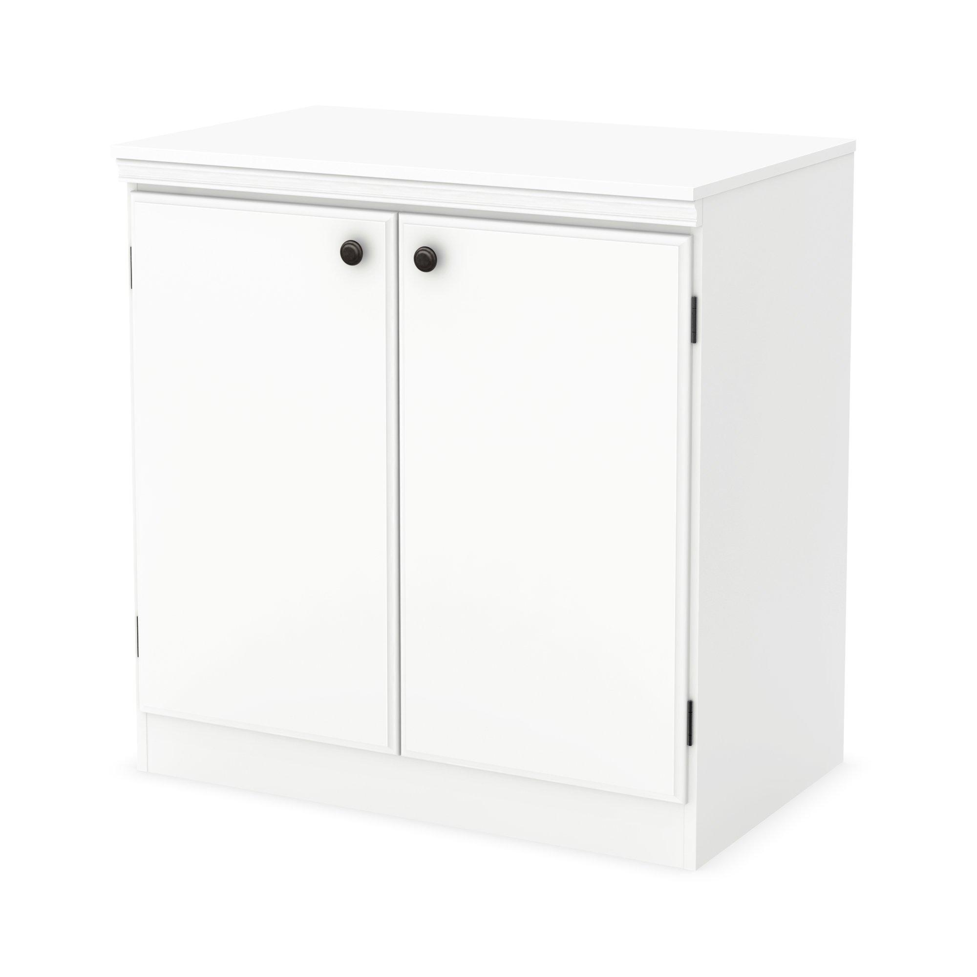 South Shore Morgan 2-Door Storage Cabinet, Pure White