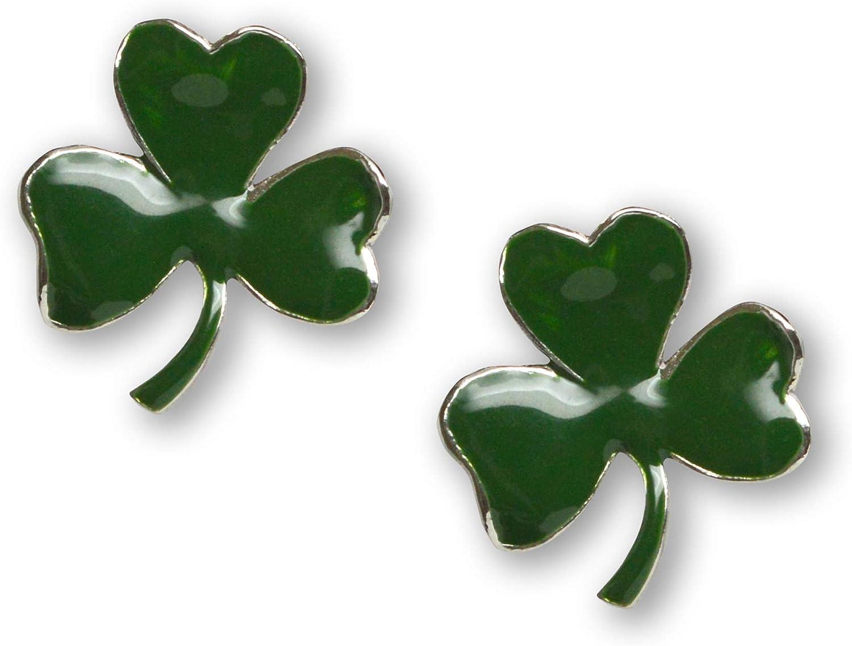 Timeless Classic Irish Three Clover St Patrick/'s Day Shamrock Pin Petite Irish Shamrock Vintage Brooch Circled with Green Rhinestones