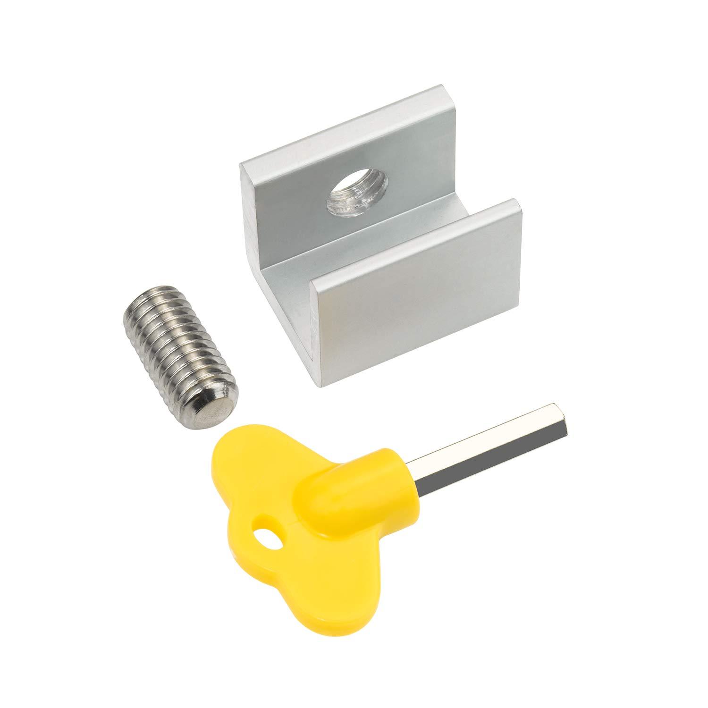 Child Window Locks with Keys Favordrory Sliding Security Door Stop Aluminum Alloy Door /& Windows Safety Lock 8 Pack Sliding Windows Lock Stop for Home /& Office
