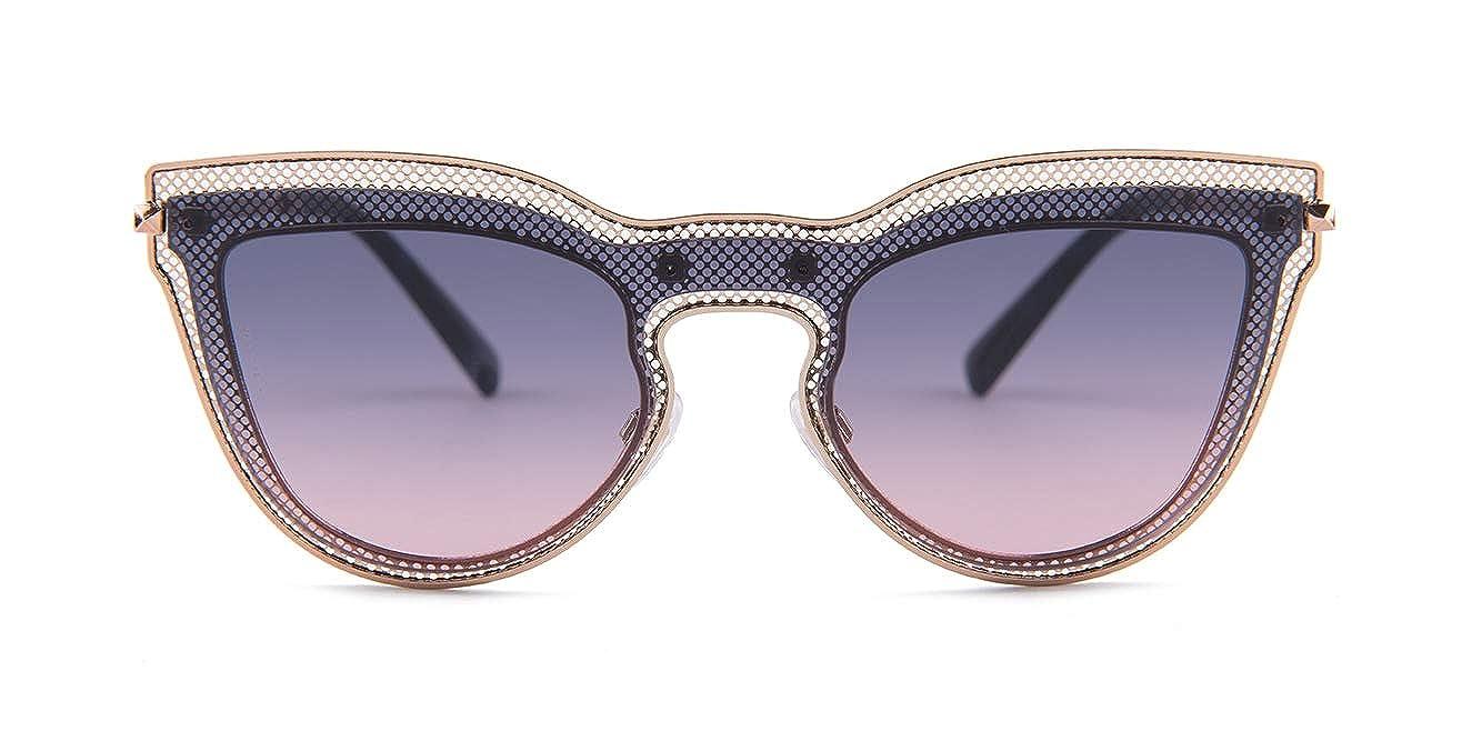 Valentino 0VA2018 Rose Gold//Blue Gradient Rose Lens Sunglasses