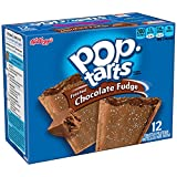 Pop-Tarts Breakfast Toaster Pastries, Frosted Chocolate Fudge Flavored, 22 oz (12 Count)(Pack of 12)