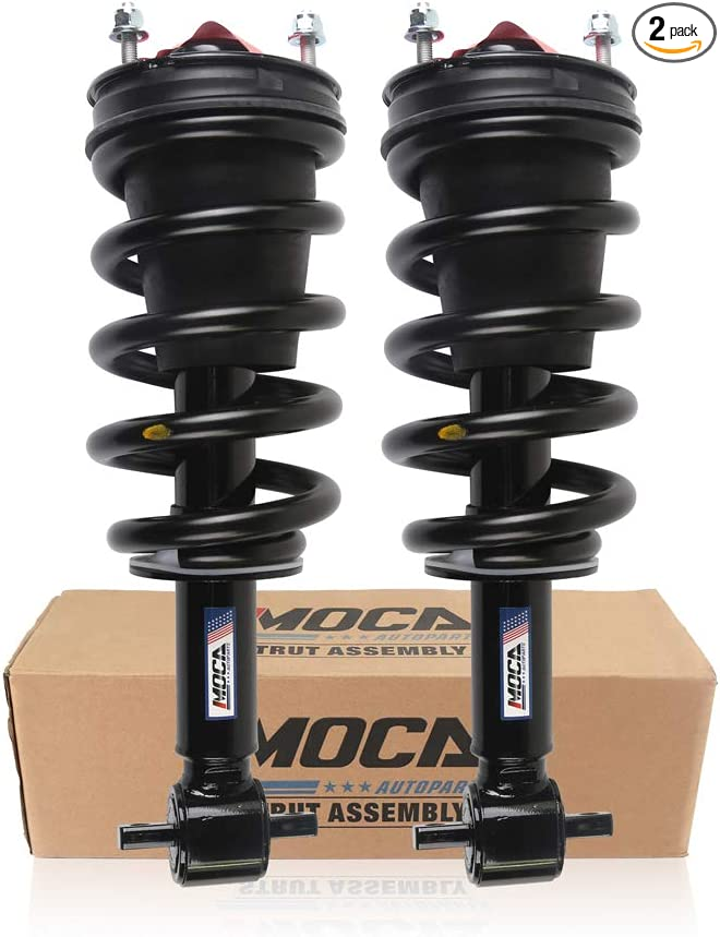 itelleti 4pcs New Front Suspension Struts Coil Springs Assembly Rear Shock Absorbers Fit 08-13 Chevy Silverado//GMC Sierra 1500 07 New Body Without Electronic Suspension
