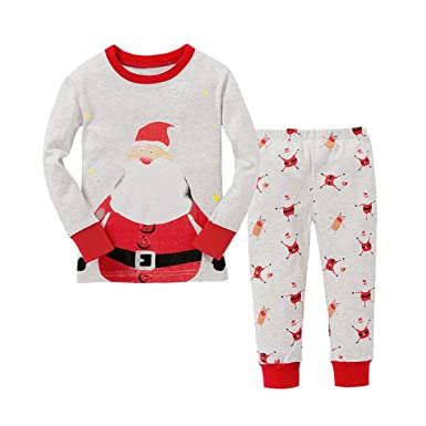 9bd9aac7e6f3 Toddle Boys Pyjamas Christmas Pjs Winter Kids Pajamas Set 2 Pieces ...