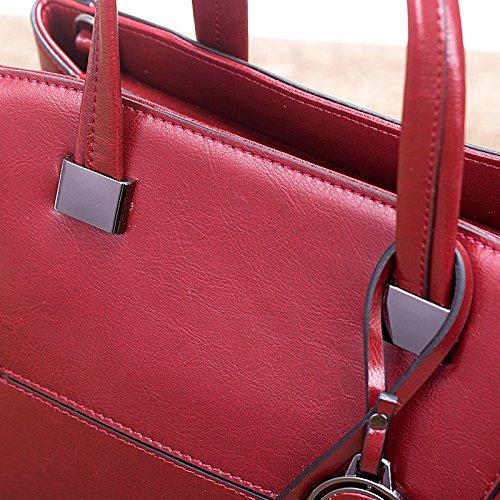 Zm capacité avec supérieure Vintage Tote à bandoulière Sacs grande gris poignée Casual fwfrq1