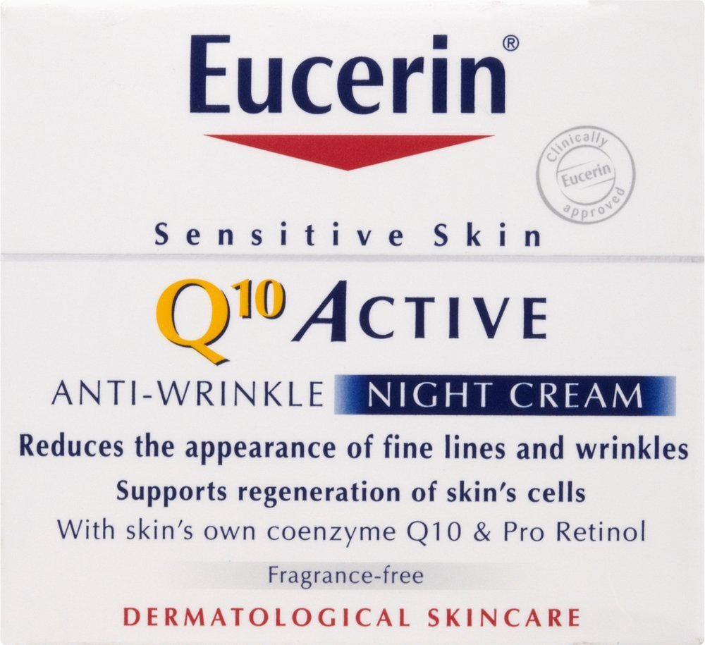 Eucerin Q10 Active Anti-Wrinkle Night Cream 50ml ECR7454
