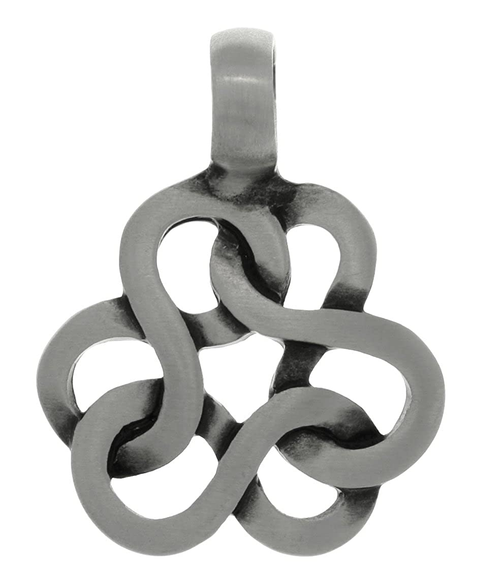 Jewelry Trends Celtic Infinity Knot Trinity Pewter Pendant Necklace 18