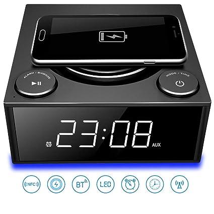 Teléfono celular Cargador inalámbrico Altavoz Bluetooth ...
