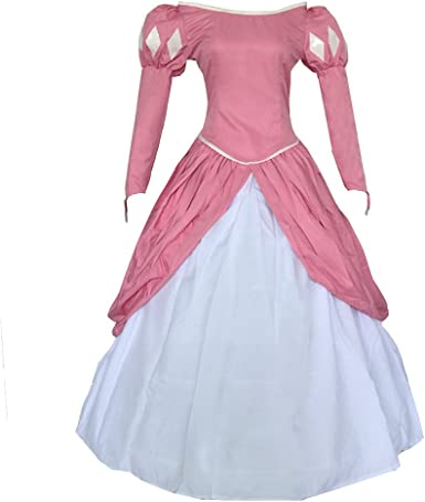 Amazon Com Cuterole Adult Women S Ariel Pink Cosplay Costume Halloween Party Dress Custom Size Clothing