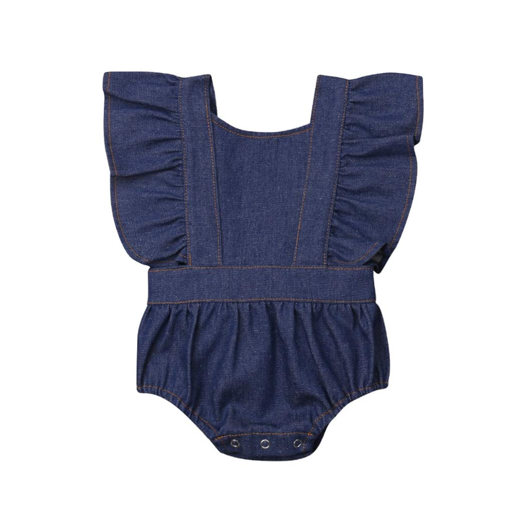 Family Matching Outfits Toddler Baby Sister Denim Matching Girl Romper Party Dresses Sunsuit Family Clothes Matching
