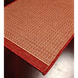 """Foris FS01 Brick Custom Carpet Hallway and Stair Runner - 26"""" x 32 ft Finished Runner"""