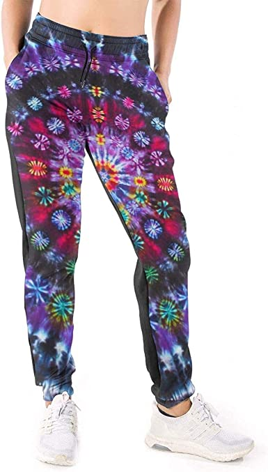 Not Tie Dye Mandalas Women S 3d Printed Casual Sweatpants Loose Jogger Pants With Pockets At Amazon Women S Clothing Store