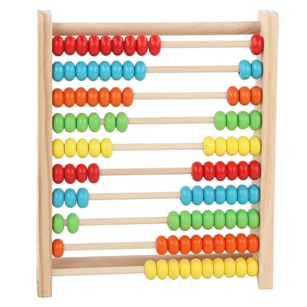 1KTon Wooden Toy Developmental Toy Brightly-Colored Wooden 100 Beads for Kids Math by 1KTon