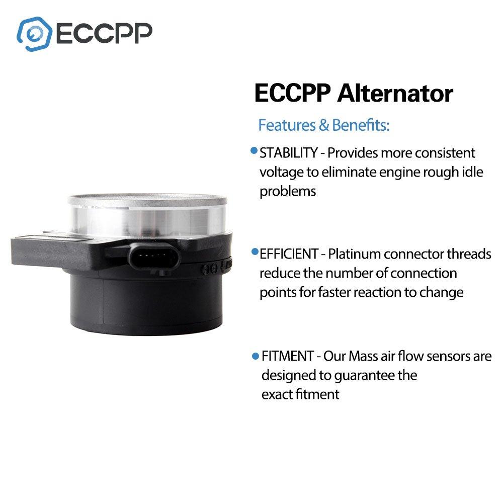 Mass Air Flow Sensor Meter ECCPP MAF 15904068 for Cadillac