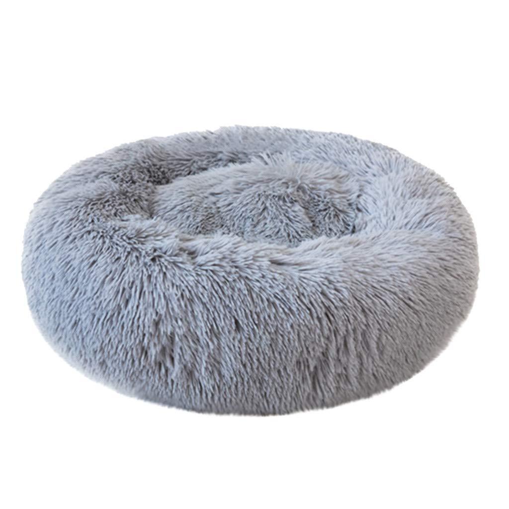 Ankola Plush Donut Cuddler for Pet Round Fluffy Calming Cushion Bed for Dog Cat