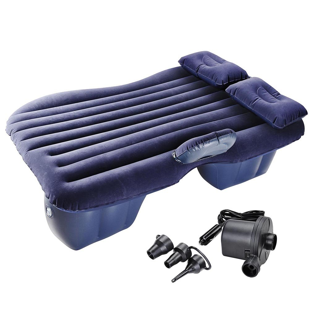 Yescom Car Air Bed Travel Camping Inflatable Mattress Backseat Cushion w/Pillow Pump