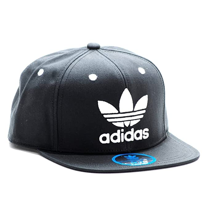 81e3af13b9c688 Adidas Originals Snapback AC Cap TRE Flat S95077 Black White Logo OSFY  Youth: Amazon.ca: Clothing & Accessories