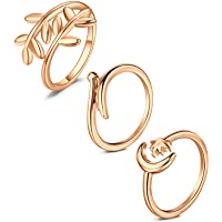 أنيسينا تو خاتم للنساء أنواع مختلفة خاتم مفتوح الفرقة لطيف القدم مجوهرات مجموعة الذيل الدائري الصيف شاطئ قابل للتعديل…
