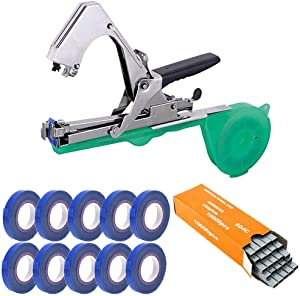 RZiioo Tape Tool Plant Tying Tool Binding Machine Agriculture Taper Hand Tying Machine for Fruit Flower Vegetable Vine Tomato,2