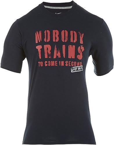 Idear Solicitante Leopardo  Nike Training – Camiseta de Manga Corta para Hombre, Negro/Rojo: Amazon.es:  Deportes y aire libre
