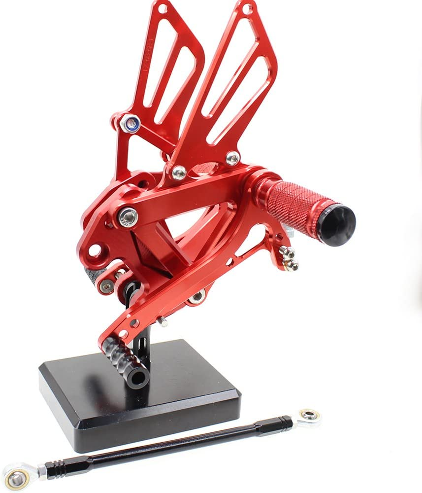 Motorcycle Rearsets Foot Pegs Rear Set Footrests Fully Adjustable Foot Boards PROCNC Fit For Kawasaki Ninja 600 ZX6R ZX636 1999-2002 ZX9R 1999-2003 ZX7R 1996-2003 ZZR600 2005-2008