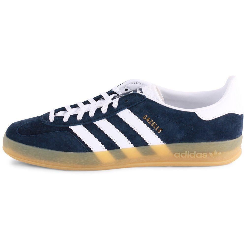 adidas Gazelle Indoor Mens Suede Trainers Navy White 44 2