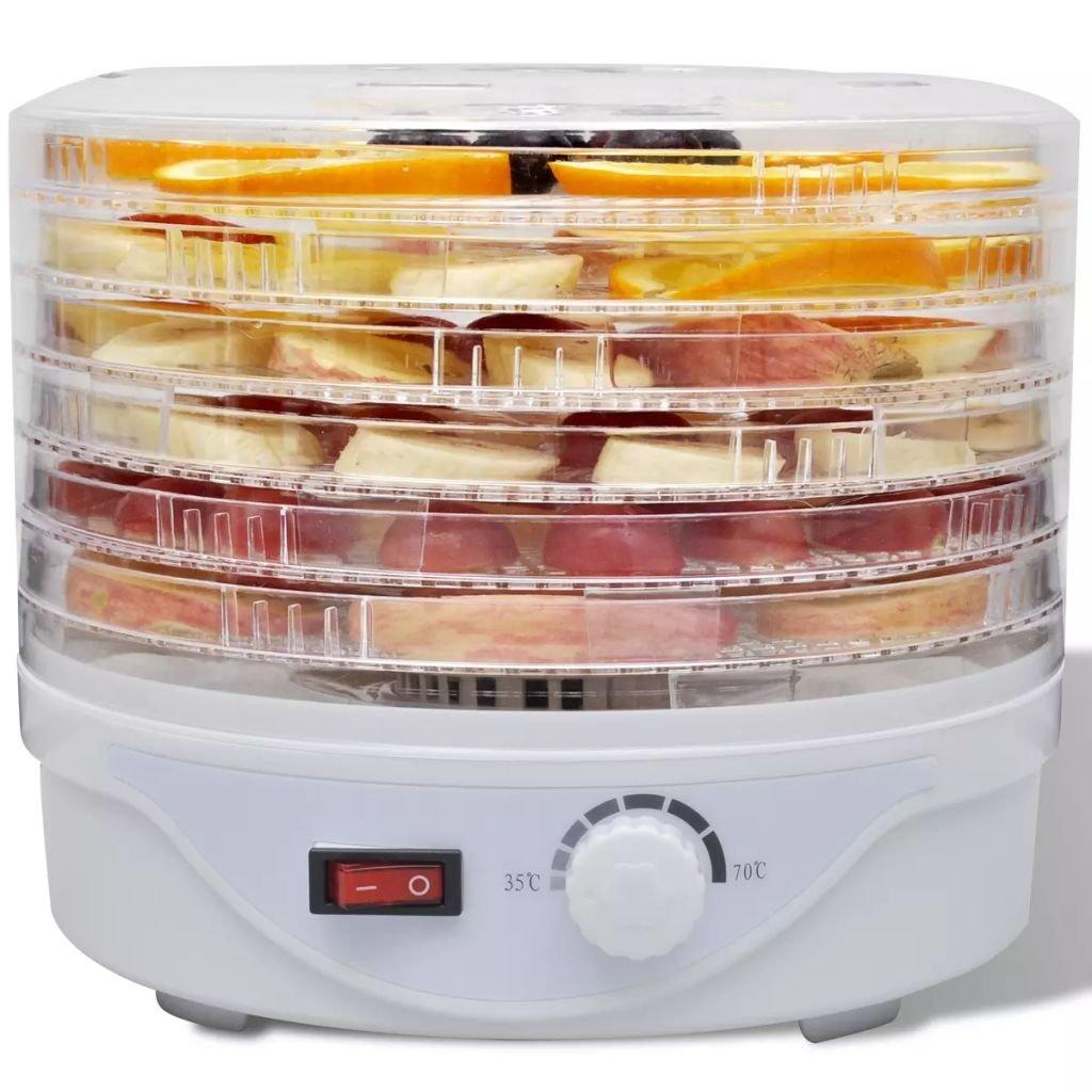 Festnight- Essiccatore Alimentare con 6 Vassoi Impilabili (Rotondo)