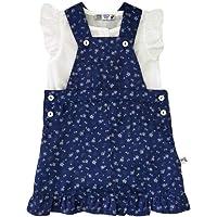 VEOBABY Çiçek Desenli Kız Bebek Elbise Takım