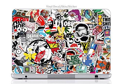 Laptop VINYL DECAL Sticker Skin Print Sticker Bomb fits Chromebook 550
