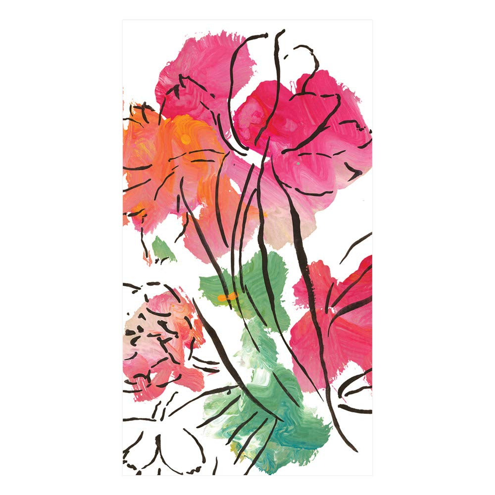 ゲストタオル用紙ハンドタオルバスルーム用装飾パーティーSupplies抽象花 Guest Towel 14450G B078K9987S  Guest Towel
