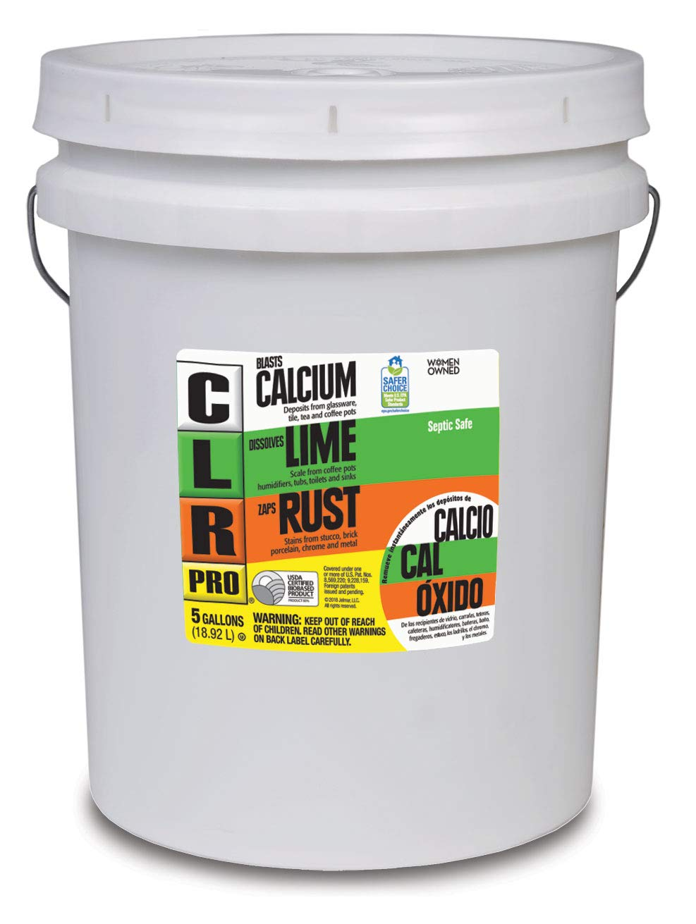 CLR PRO Calcium, Lime & Rust Remover, 5 Gallon Pail by CLR