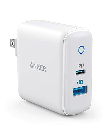Anker PowerPort PD 2(PD対応 30W 2ポート USB-A & USB-C 急速充電器)【PSE認証済 / Power Delivery対応 / PowerIQ搭載 / コンパクトサイズ】iPhone XS / XS Max / XR / 8 / 8 Plus、S9 / S9+、その他対応