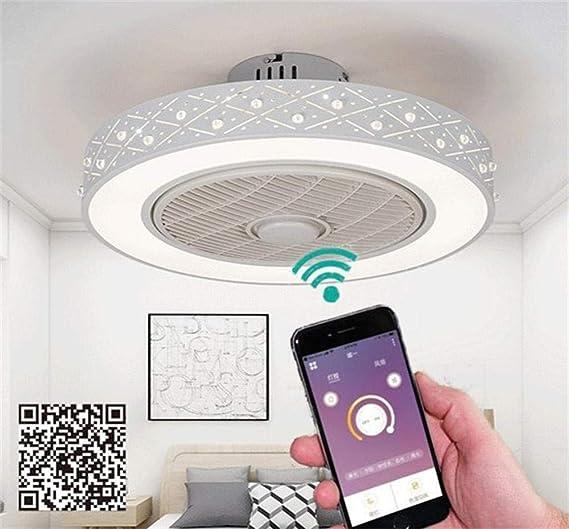 Ventilador de techo inteligente, controle la decoración del hogar ...