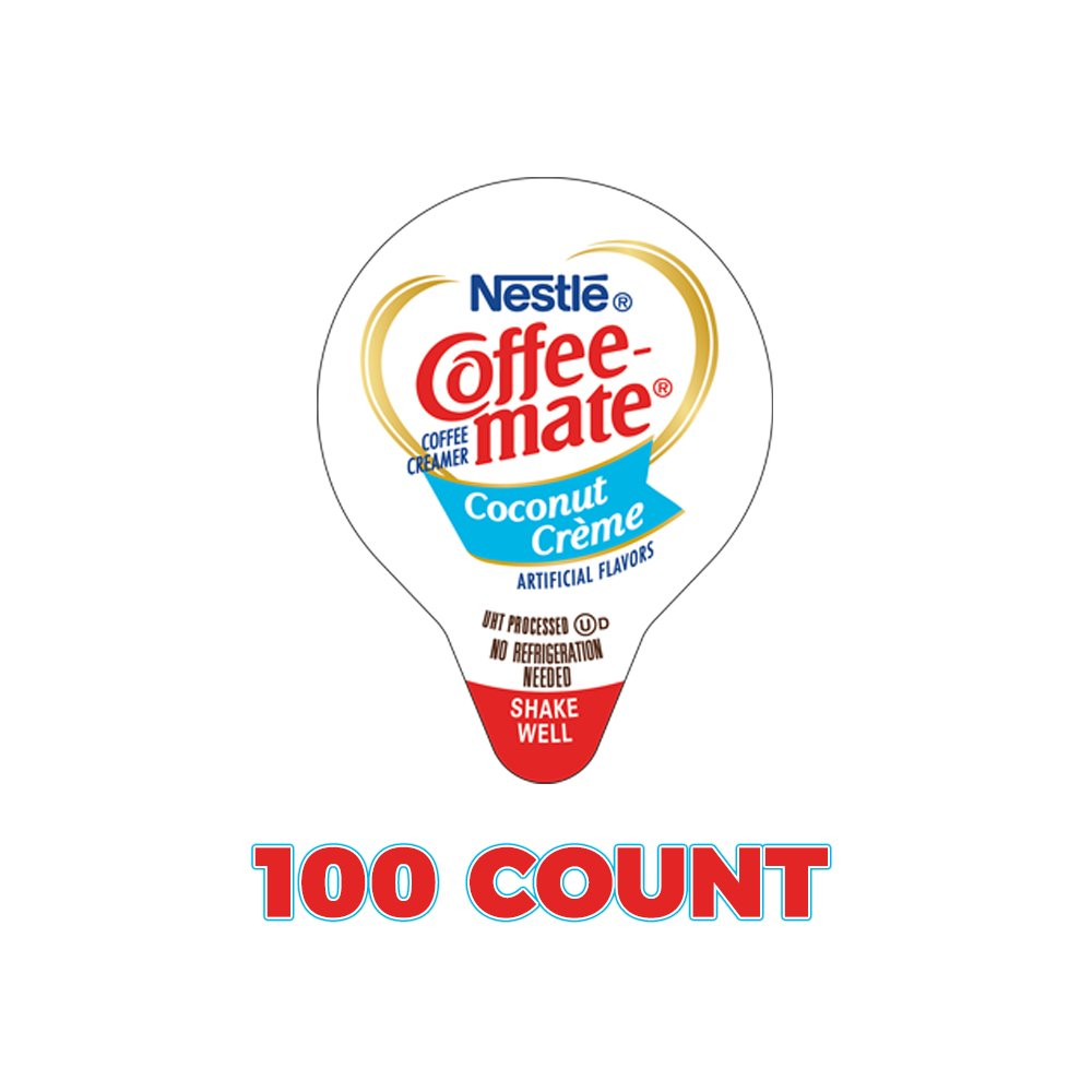 Coffee Mate Coconut Creme Pie Coffee Creamer Singles - 100 Count Limited Edition by Coffee-mate