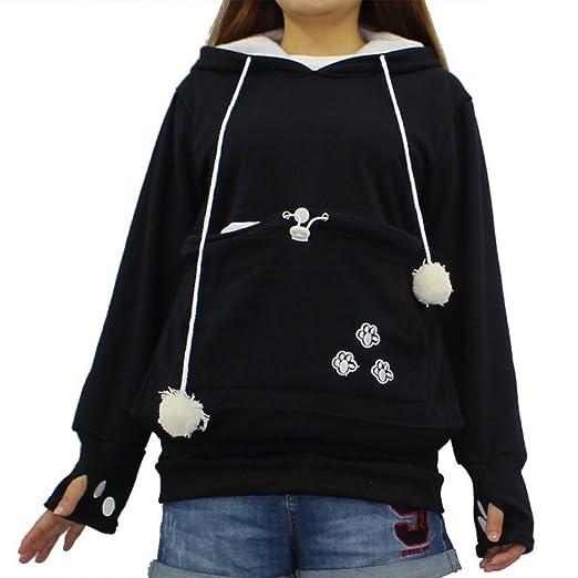 3c4890ad5 Women Sweatshirts and Hoodies,Lady Long Sleeves Large Pocket Pattern Cute  Hoodie Top Casual Pet