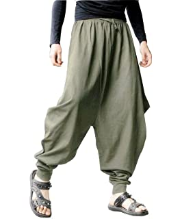UNISEX GENIUNE Heavy Cotton stripe Harem Pants Aladin Pants