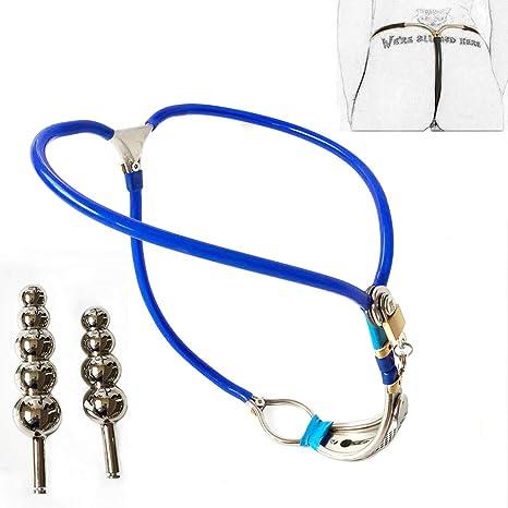 DSXX Cinturón de castidad Invisible para Mujeres de Acero cinturón ...