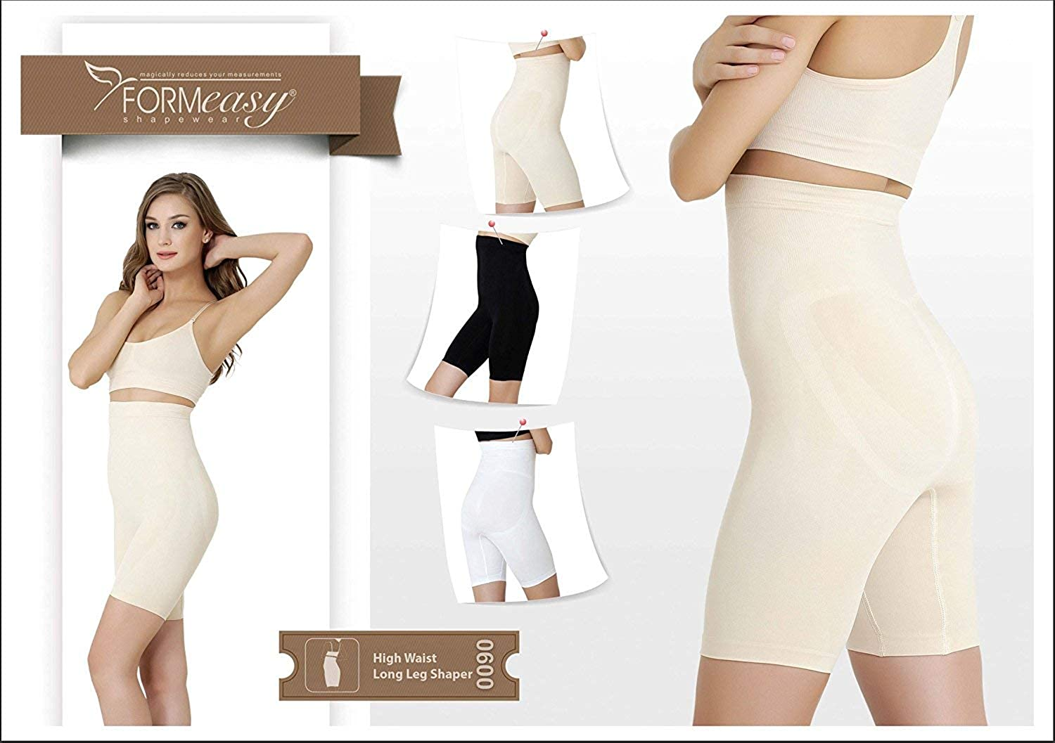 1c811c75d2 FORMeasy Women`s Seamless Shapewear Hi-Waist Long Leg Slimmer Tummy Control  at Amazon Women s Clothing store