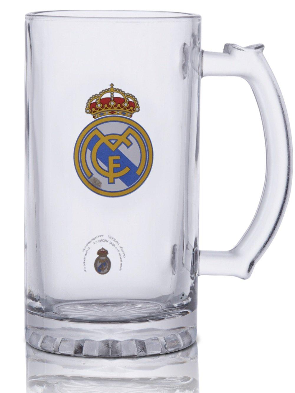 Amazon.com: Jarra de cerveza oficial del Real Madrid FC ...
