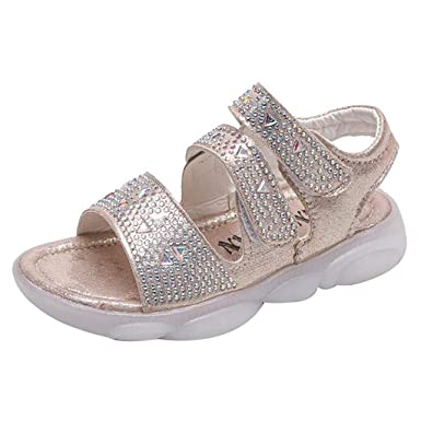 c8b2424351590 Amazon.com: Baby Girls Princess Shoes Sneakers Toddler Infant Kids ...