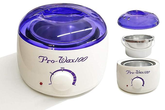 Crisnails Calentador de Cera Eléctrico para la Depilación Profesional 500ml, Varios Colores Incluido 4 Bolsa de Cera y 10 Espátulas (Blanco 4 Bolsas KIT): ...
