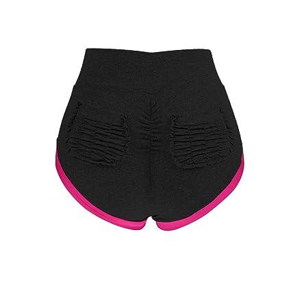 17cdcde92 Litetao Yoga Short Pants, Women Pocket Sport Shorts Gym Workout Waistband  Patchwork Hot Pants (