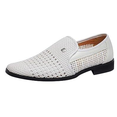 Zapatos De Cuero Cabeza PuntiagudatejeduríA Negocios para ...