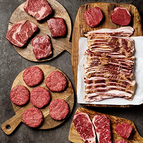 (UDSA Prime Ultimate Experience, Filet Mignons, Ribeyes, New York Strips, Top Sirloin, Burgers and Bacon - Overnight Shipping Monday-Thursday)